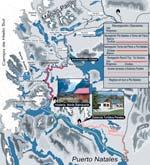 Mapa de los alojamientos