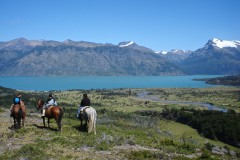 Horse riding in Estancia Perales